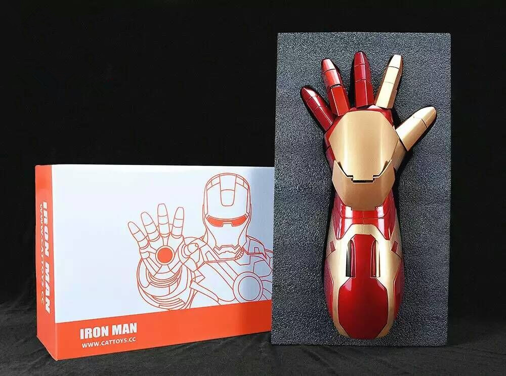 Movie Figure Iron Man MK43 1 1 Cosplay Movable Wearable Arm Glove with Launch Sound Laser