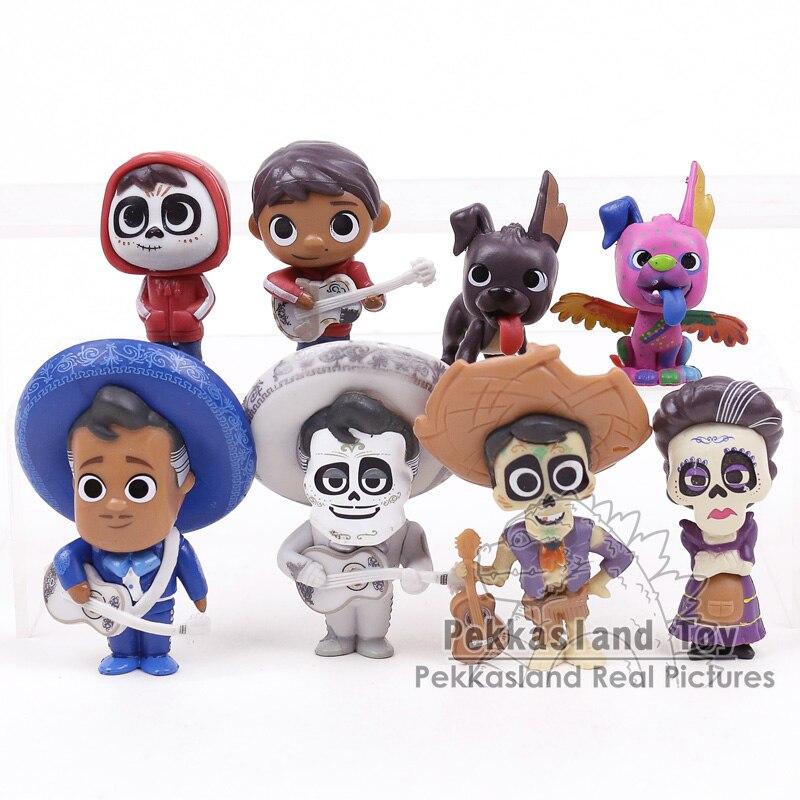 9 un.//set película Coco Pixar Miguel//Ernesto de la Cruz Héctor niños Riveras