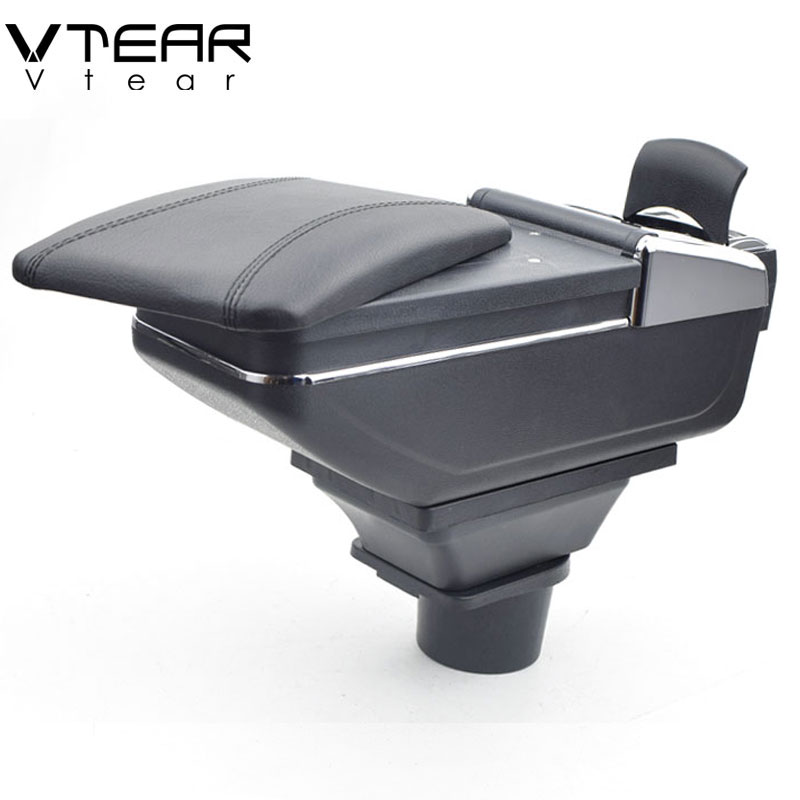 Vtear for Smart fortwo forfour armrest box central Store content box products interior Armrest Storage car-styling accessories smart 453 fortwo forfour automotive accessories car steering wheel cover shell interior car decoration metal ring car styling