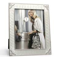 8X10 Photo Frame With Pearl Expoxy And Classic Flower Black Velvet Backing Free Shipping