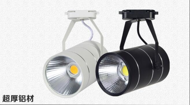 Simple Clothing exhibition backdrop COB LED track light 20W black LED track  spot light club/bar ceiling indoor spotlight