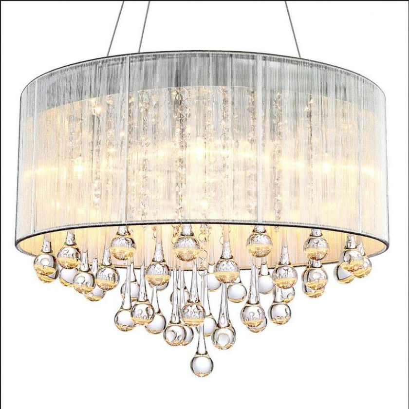 vintage glass drops led crystal chandeliers lamp lustres for dining roombig french empire style