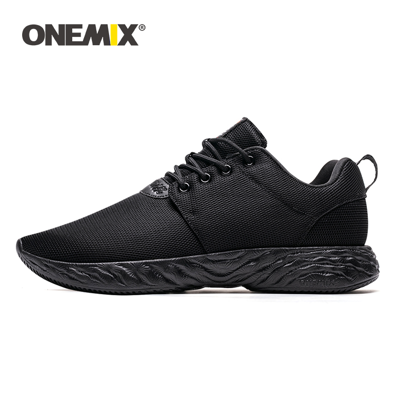 ONEMIX 2019 Men Sport Shoes Sneakers Outdoor Running Breathable Mesh High Quality Soft Damping Lightweight For Jogging Walking