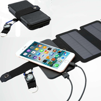 SunPower 11W folding Solar Panels Cells Charger battery sun power USB Output fast charging Devices Portable for Smartphones
