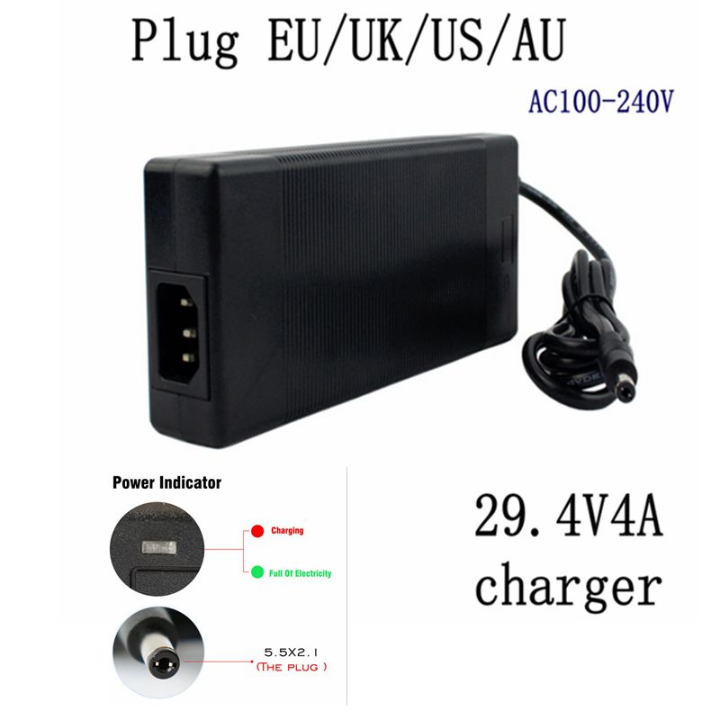 1 Pc Best Price 29.4V4A 29.4V 4A Li-ion Battery Charger For 25.2V 25.9V 7 Li-ion Battery Li-ion Battery For Charger