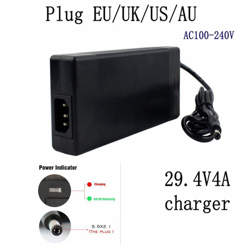 1 Pc Best Price 29.4V4A 29.4V 4A Li-ion Battery Charger For 25.2V 25.9V 7 Li-ion Battery Li-ion Battery For Charger