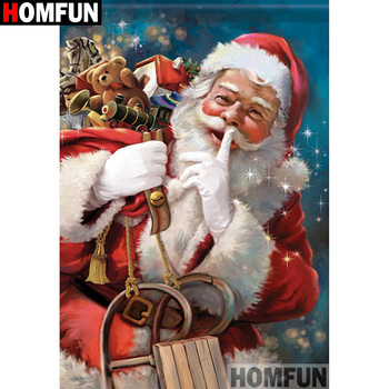 HOMFUN Full Square/Round Drill 5D DIY Diamond Painting Santa ClausEmbroidery Cross Stitch 3D Home Decor Gift A17561