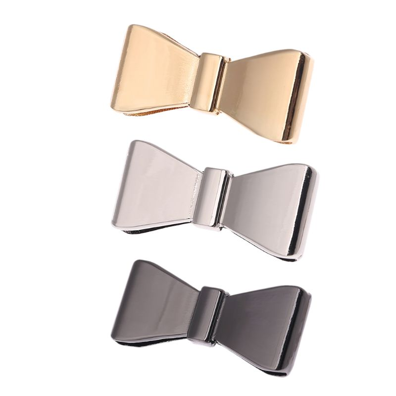 New 1 Pc Metal Bowknot Decoration for Handbag Shoes Luggage Bag Decor Ornament Hardware DIY Craft Replacement Accessory 3 Colors
