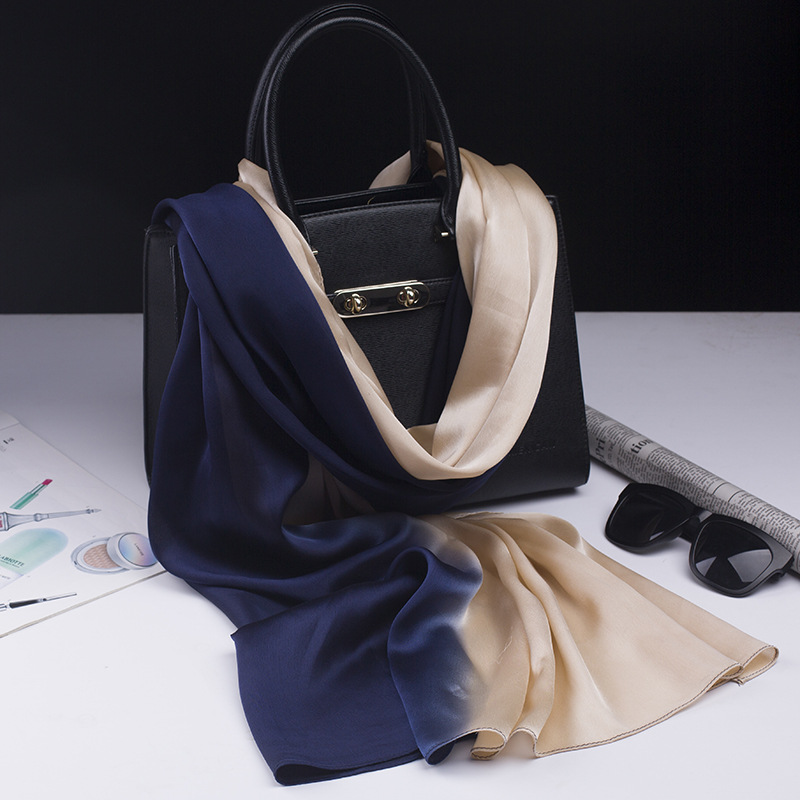 2018 luxury brand   scarf   silk shawl fashion soft women   scarf   summer silk   scarves     wraps   bandana lady pashminna pareo beach foulard