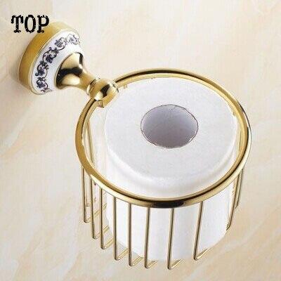 European paper towel basket Golden toilet paper basket The gold plated copper tissue boxes porcelain bathroom hand carton paper-in Paper Holders from Home ... & European paper towel basket Golden toilet paper basket The gold ...