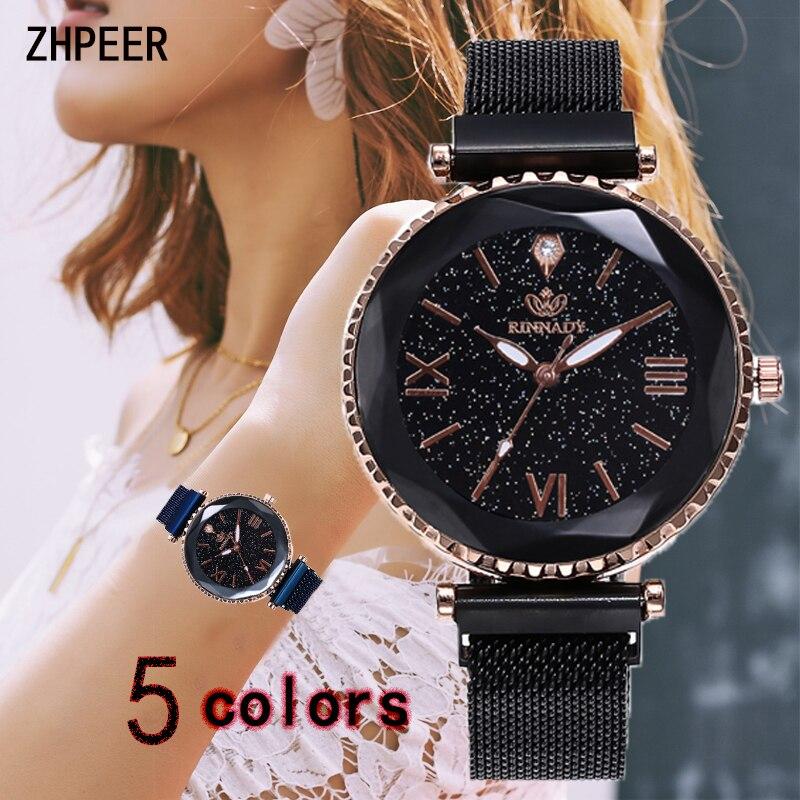 Women Watch Stainless Steel Mesh Strap Wristwatch Roman Scale Fashion Magnetic Buckle Quartz Watch Luxury Clock Relojes Mujer
