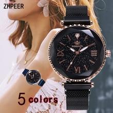 Reloj de Mujer correa de malla de acero inoxidable reloj de pulsera escala romana de moda hebilla magnética reloj de cuarzo de lujo reloj Relojes de Mujer