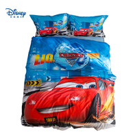 McQueen Cars Bedding set for Kids Bedroom Decor Cotton Bed Covers Sheets Boys Home Comforter Sets Twin Size Coverlets Blue Queen|Bedding Sets| |  -