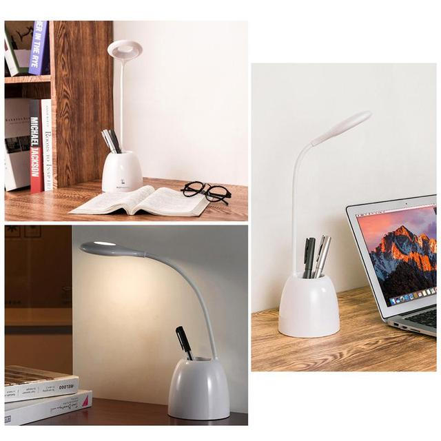 Suave-Cuidado de los Ojos Lámpara de Escritorio del LED Brillo Ajustable Lámpara de Mesa de Sensor Táctil Con Ajustable Para El Hogar Estudio de Lectura de Trabajo