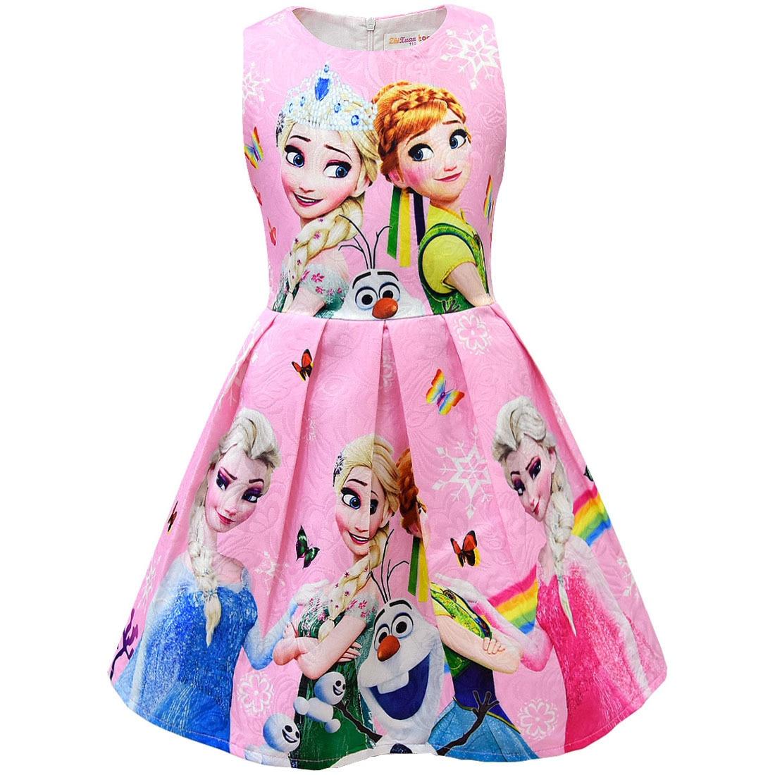 d208d4ae483d Cheap Nuevo verano princesa Elsa Vestido para niñas bebé Anime cumpleaños  fiesta vestidos Elza disfraz niños