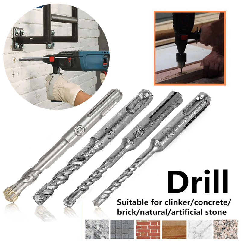 DWZ 110mm 5/6/8/10 mm SDS Plus Masonry Crosshead Twin spiral Hammer Drill Bits ...