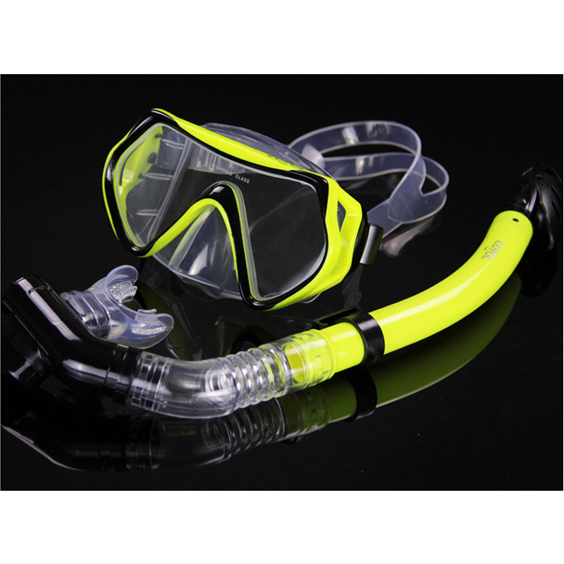 все цены на New Professional Diving goggles Men and women Swim snorkel adult scuba monofin tube Snorkeling Swimming glasses Diving mask