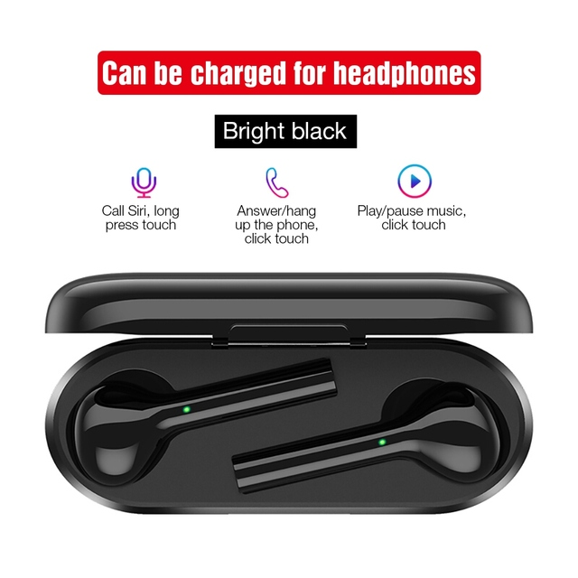 TOMKAS Mini TWS Bluetooth Wireless Earphone Headphones Freebud Touch Control Sport Headset With Dual Microphone For Mobile Phone 2