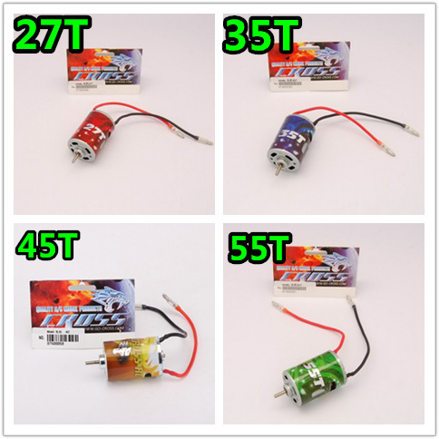 CROSS RC 1/10 27T 35T 45T 55T 540 Brush Electric Motor waterproof RC Rock Crawler Axial SCX10 RC4WD D90 Traxxas TRX-4 RC Parts hj 540 excellent motor w installation hole for 1 10 rc car
