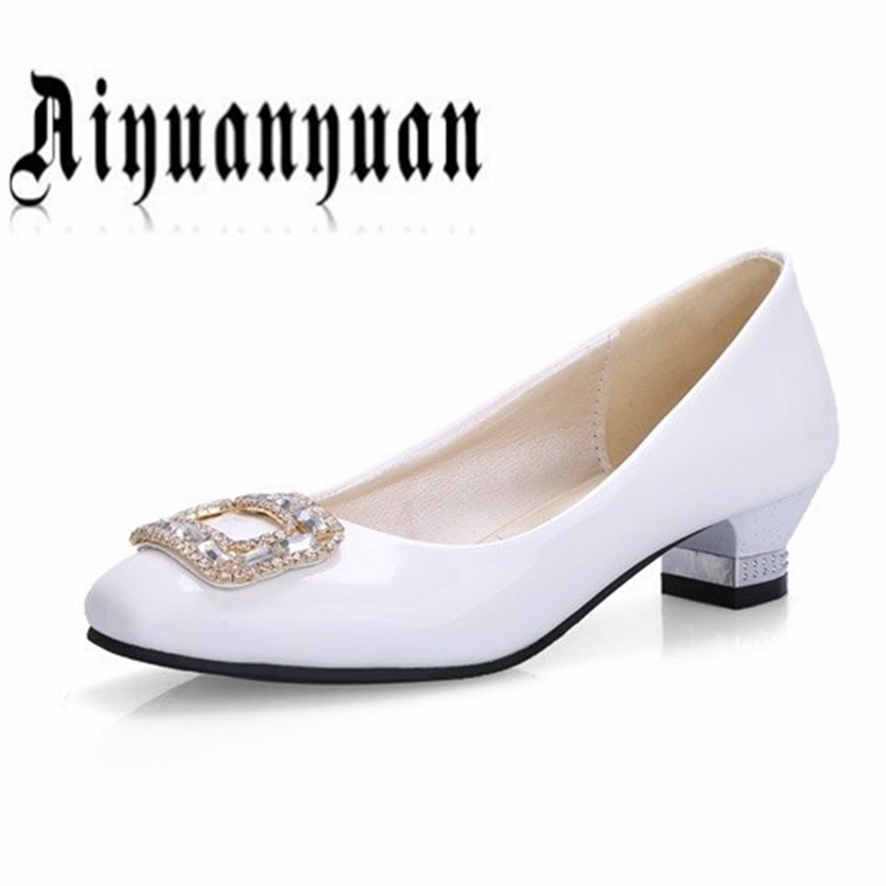 New arrival popular high quality PU Square Toe Strange Style shoes Size 44 45 46 47 48 Rhinestone decoration pumps free shipping