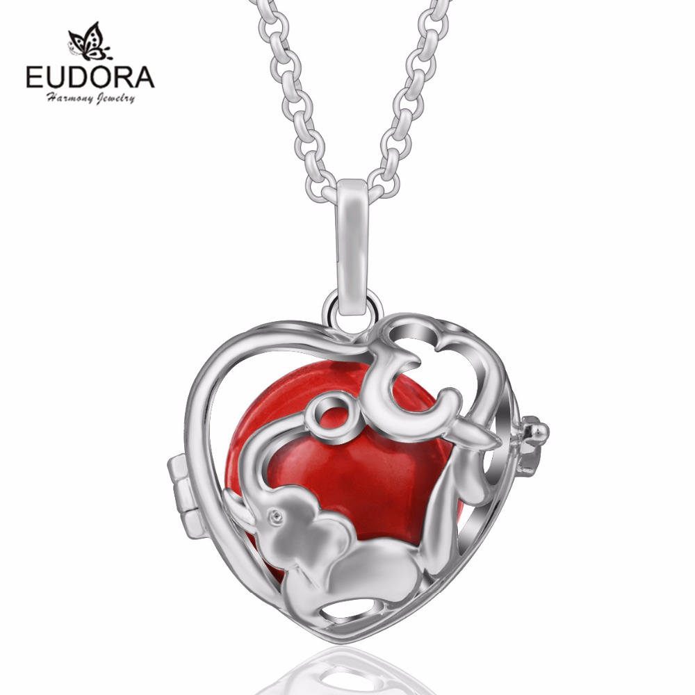 Best Valentine Gift Red Chime Ball for Elephant Cage Pendant Angel Caller Mexican Bola Ball K194N18