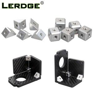 LERDGE 3D Printer Parts screw nut bracket fixing piece DIY printer Accessories Sheet connector aluminum block 5pcs and 10pcs