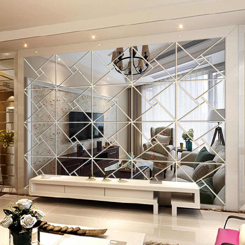 Mirror Wall Vanity Circle Mirrors For Living Room Kawaii ...
