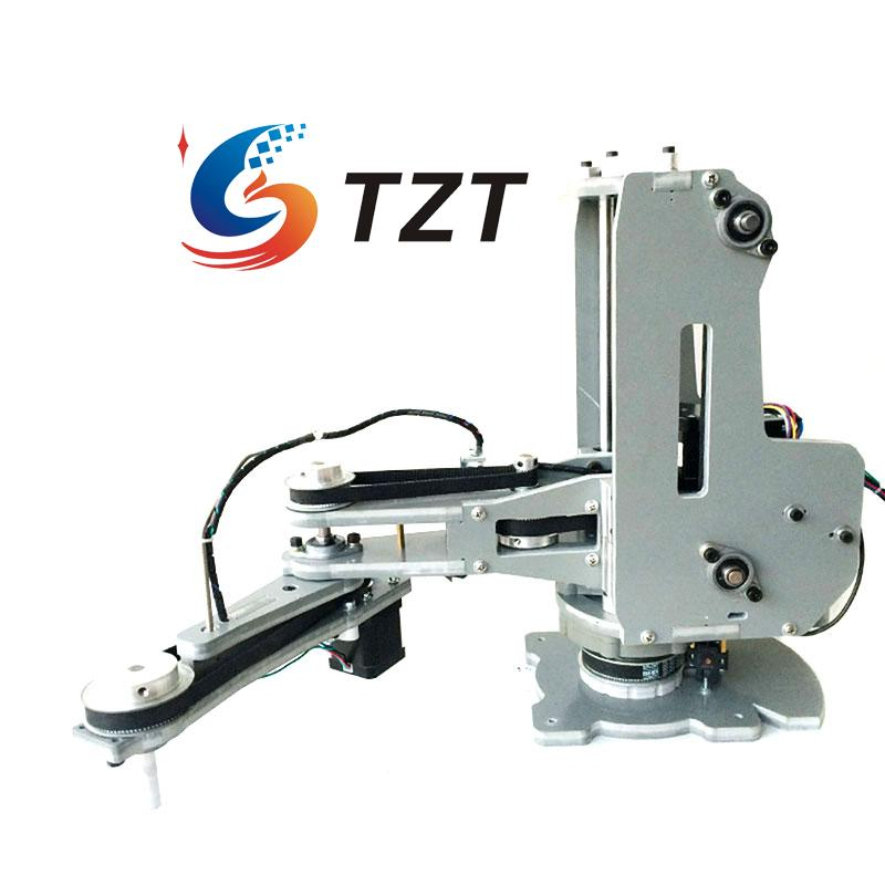 SCARA Robot Mechanical Arm Hand Manipulator 4 Axis Stepper Motor for Robotics Diy No Controller Assembled