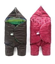 Warm Winter Baby Down Coat Jacket Thicken Baby Sleeping Bag Warm Soft Sleep Sack Envelopes For Newborns Baby Swaddle Wrap C01