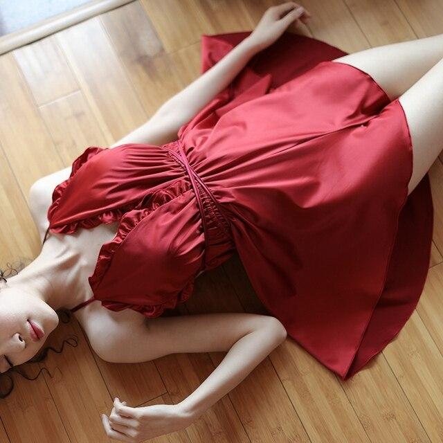 Aliexpresscom  Buy Women Sexy Silk Lingere Ruffles Deep -5025