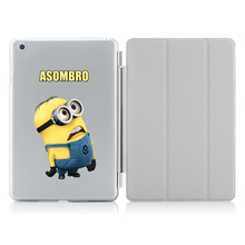 Minions Folded Stand Case with Card Holder for ipad 5/6 Air 1/2