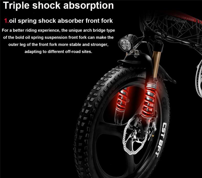 HTB1FL6gaXzsK1Rjy1Xbq6xOaFXaJ - 20inch folding electric mountain bicycle 48V400W high speed motor e-bike range 70-100km lightweight Hybrid  EMTB electric bike
