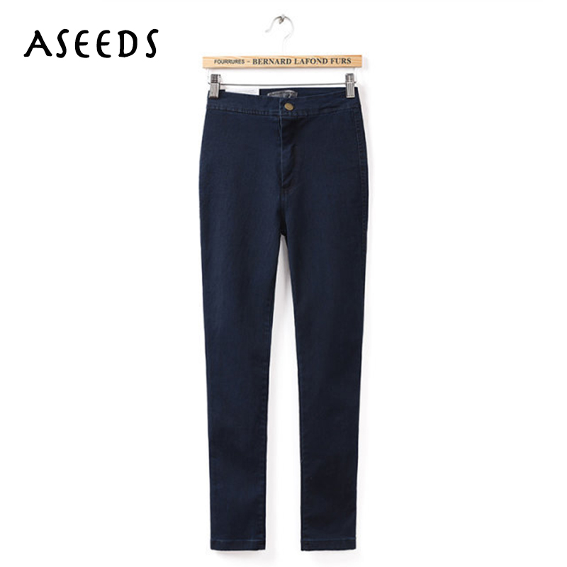 New 2017 fashion American brand jeans woman pencil casual denim stretch skinny high waist jeans pants women boyfriend jeans women jeans autumn new fashion high waisted boyfriend street style roll up bottom casual denim long pants sp2096