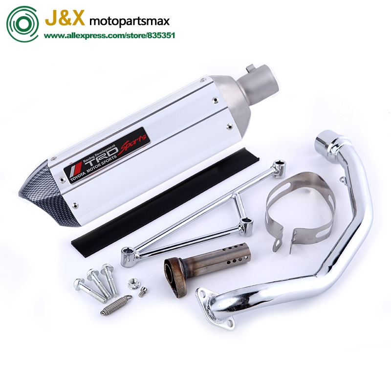 GY6 125 150cc Motorcycle modified Scooter akrapovic yoshimura muffler exhaust pipe fit 157qmj 152qmi 4 Stroke engineGY6 125 150cc Motorcycle modified Scooter akrapovic yoshimura muffler exhaust pipe fit 157qmj 152qmi 4 Stroke engine