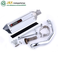GY6 125 150cc Motorcycle modified Scooter akrapovic yoshimura muffler exhaust pipe fit 157qmj 152qmi 4 Stroke engine
