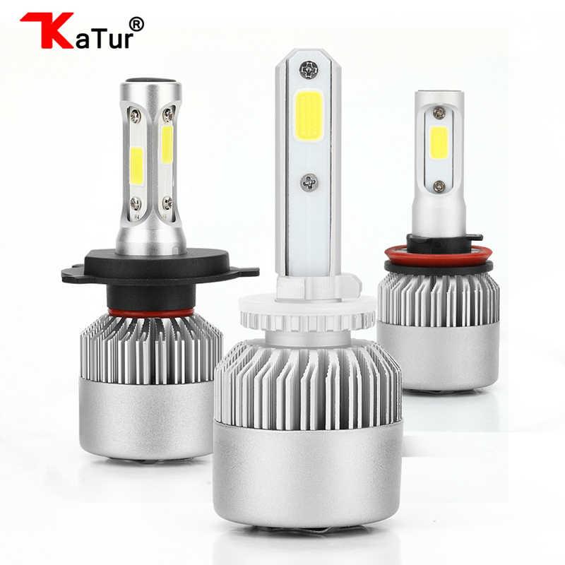 Katur 2pcs H27 880 881 Led Bulbs Headlight Conversion Kit Fog Lights 6500K White H1 H3 H4 H7 H11 H13 9005 9006 Led 8000Lm 72W