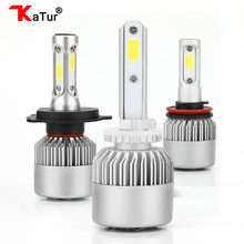 Katur 2pcs H27 880 881 Led Bulbs Headlight Conversion Kit Fog Lights 6500K White H1 H3 H4 H7 H11 H13 9005 9006 Led 8000Lm 72W(China)