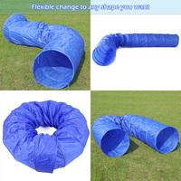 Large 5M Dog Tunnels for Large Big Dog Long Play Toys Foldable Blue Train Funny Cat Big Dog Tunnel Steel Frame Outdoor Exercises