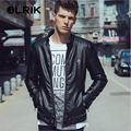 OLRIK Padded PU Leather Jackets 2016 Punk Style Casual Outerwear Suede Leather Jacket M-3XL Brand Men Winter PU Leather Jackets