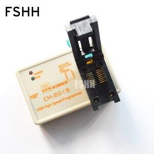 Image 4 - ÜCRETSIZ KARGO! programı CH2015 USB Yüksek hızlı programcı + 300mil FP16 to DIP8 soket eeorom/spi flaş/veri flaş/ AVR MCU programcı
