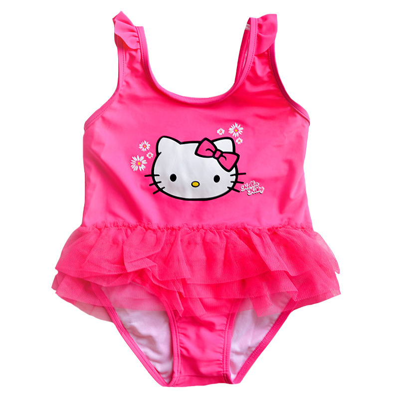 Hot Toddler Girl One Pieces Swim Wear Cartoon Kitty Cat Baby Girls Swimwear Beach Swimsuit Kids Bathing Suit Beachwear 2-8Y glasgow k girl in pieces