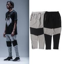 high quality 2017 jumpsuit pants black grey patchwork joggers Long Pants Men hip hop Casual  sweatpants Cargo Pants High Street