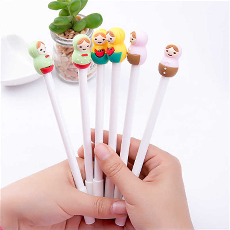 Cute Kawaii Plastic Ink Gel ballpoint Pen Cartoon  Pens For School Writing Office Supplies Korean Stationery