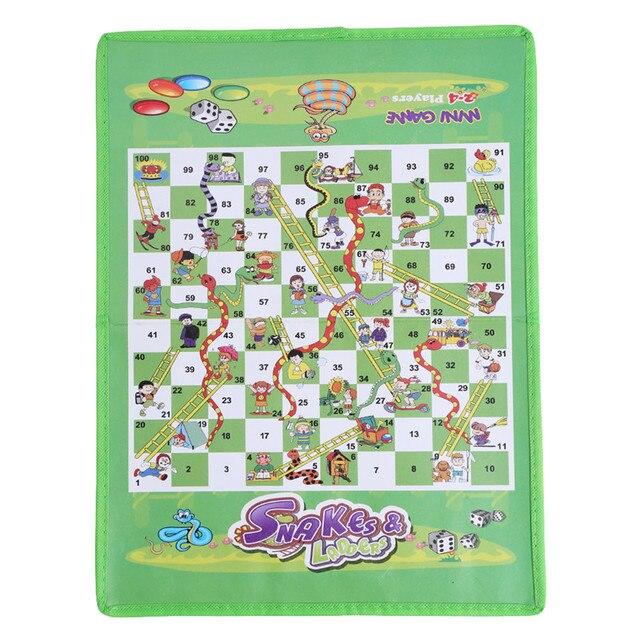 Складной Snake Chess игрушки для детей Портативный змеи и лестницы игра-головоломка Дошкольное обучение игрушки подарки
