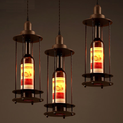 Buy wine bottle vintage pendant light for Suspension luminaire bar