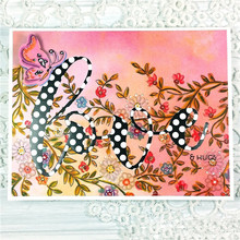 YaMinSanNiO Floral Vine Clear Stamps and Metal Cutting Dies Scrapbooking for 2019 New Craft Set Embossing Stencils