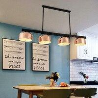 Nordic Designer LED Pendant Light Kitchen Island Dining Room Bar Counter Rotatable Hanglamp 4 Lights Hanging Light