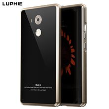 Huawei MATE 8 case Aluminum cover luxury Metal Frame + Tempered Glass   Back Cover For huawei MATE 8