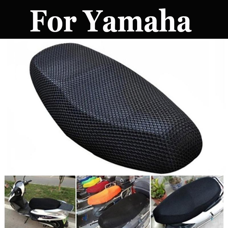 Electric Bike Net Seat Saddle Cover Durable Black Mesh Cooling Protector For Yamaha Xz 400d 550d 550g Ybr 125 250 Ys 250 Fazer(China)