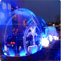1PC Inflatable Bubble Tent Outdoor Camping Tent, Clear Inflatable Lawn Dome Tent,Inflatable Lawn Dome Hiking Tents 3 m Diameter